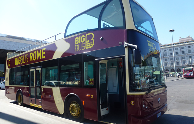 Big Bus Sightseeing Rome Hop On Hop Off Open Top Sightseeing Bus