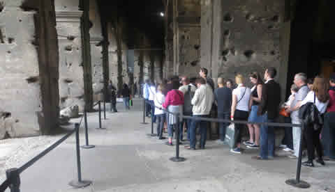 The Colosseum Ticket Queue