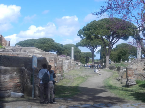 Typical Scene At Ostia Antica Near Rome