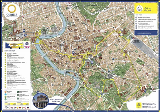 Roma Cristiana Tour Bus Route Map