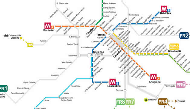 Rome Trains And Stations With Prices Maps Passes Amp Ticketing