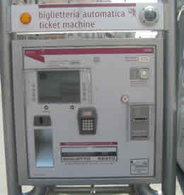 Rome Public Transport Automated Ticket  Machine