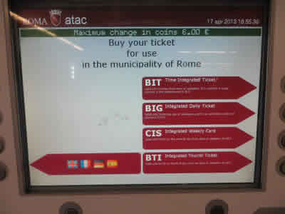 Rome Public Transport Travel Pass Options Metro Buses
