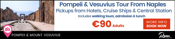 Day Tour From Naples  To Pompeii & Mount Vesuvius