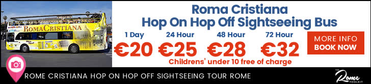 Roma Cristiana Rome Hop On, Hop Off Open Top Tour Bus Tickets