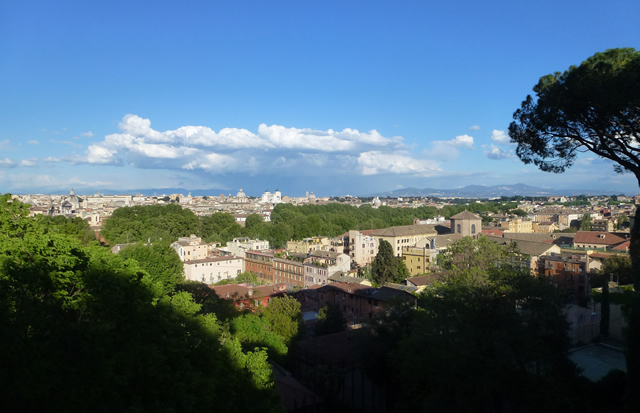 View Over City Of Rome From Heights Above Trastevere